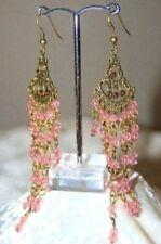 Medieval Baroque Ear - Ring Earrings Earrings Old - Pink New