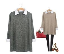 Women GREY tops blouses sweaters jumpers shirts spring fall