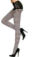 Queen Womens Plus Size Opaque Striped Tights, Plus Size Pantyhose