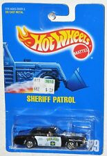 Hot Wheels 1991 Collector #59 Sheriff Patrol Blue Card Police Serve & Protect