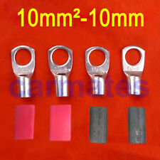 4 X Battery Cable Lead Lugs Terminals 10-10 Heavyduty Copper free heat shrink OZ