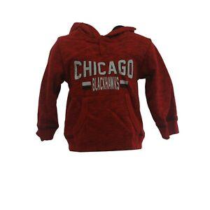 Chicago Blackhawks Official NHL Apparel Infant Toddler Size Hooded Sweatshirt