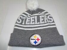 Pittsburgh Steelers NFL Logo Hat Knit Pom Beanie Winter Cap