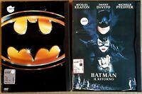 BATMAN + BATMAN IL RITORNO - 2 DVD EX NOLEGGIO - SNAPPER CASE WARNER