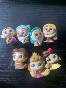 Disney Doorables - Series 6 - Lot 6 - 7 Figures - Princess - Snow White + Dwarfs