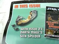 Darth Maul's Sith Speeder With Mag #21 Star Wars Starships & Vehicles Collection