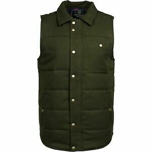 United By Blue Men's Drummond Wool Vests with Down Insulation