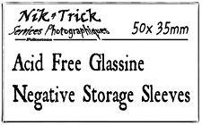 Negative Glassine Storage Sleeves 35mm - 50 Pack ~ (Half the Price of Kenro!)