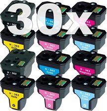 30x XL PATRONEN für HP363 C5180 C6250 C7180 C7280 C8180 3110 3210 3310 8230 8250