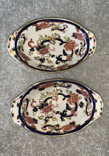 2 X Vintage Mason's Ironstone Mandalay Oval Dish Candy Trinket Bowl