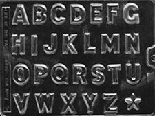 LETTERS A THRU Z CHOCOLATE CANDY MOLD PARTY FAVORS CUPCAKE TOPPERS LOP