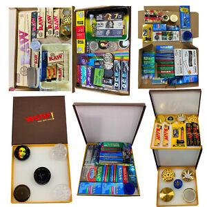 Raw Christmas Gift Tray Kit Set Classic Organic Hemp Grinder papers, tips mat