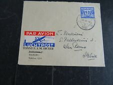 Nederland 383 op LP-brief Tilburg - San Remo 1946