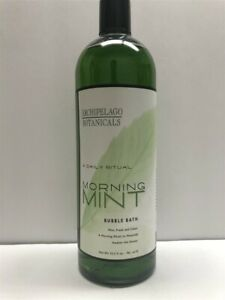 Archipelago Botanicals Morning Mint Bubble Bath 32.5 oz/961 ml, Discontinued!