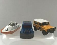 Lot of 3 Matchbox - '98 Snow Groomer, '06 Land Rover, '00 Rescue Boat
