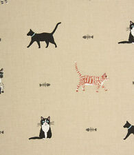 Roman Blind Sophie Allport Purrfect Cats Fabric Interlined Mechanised Track MTM