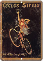 Cycles Sirius Retro Vintage Metal Advertising Wall Sign 2