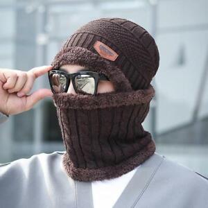 Mens Womens Winter Warm Baggy Slouchy Ski Skull Knit Beanie Hat & Scarf Cap Lot