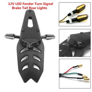 LED Fender Turn Signal Light Brake Tail Rear Lights Kit for Motorcycle Dirt Bike