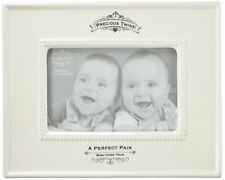 Insignia Precious Twins Photo Frame, 9.5 inches, Ivory