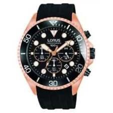 Orologi da polso Lorus con cinturino in gomma/silicone con cronografo
