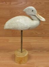 Unbranded Hand Painted Yard Ornament / Decoy White Bird With Stand