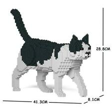 JEKCA Animal Building Blocks Kit for Kidults Cat 11S-M02