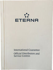 Eterna Watch Warranty Blank Guarantee & Official Service Centres Booklet White