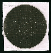 1809 Astronomy North Sky Star Map Polaris Constellations Telescope Hemisphere