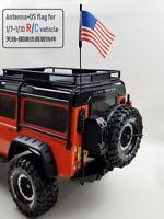 3pcs RC Car 1:7- 1:10 Control Controller  Metal Antenna w/Flag For 4WD 1:10 RC
