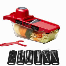 Steel Mandoline Slicer Adjustable Blades Kitchen Vegetable Food Cutter Container
