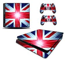 Union Jack Adesivo/Skin PS4 Slim Playstation 4 console/controller remoto, pss12
