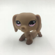 Littlest Pet Shop Animals LPS 932 Pink Star Eyes Puppy Dachshund Brown Dog Toys