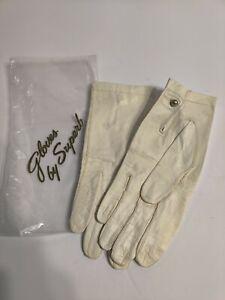 Vintage Superb Super Soft Kid Leather Gloves Sz 6.75. Made In Western Germany