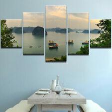 Ha Long Bay Vietnam Landscape 5 panel canvas Wall Art Home Decor Poster Print