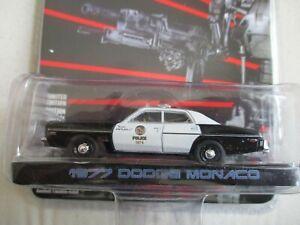 MINIATURE 1/64  3 INCHIES GREENLIGHT 1977 DODGE MONACO POLICE TERMINATOR