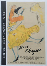 Marc CHAGALL : Lithographie Affiche 1959 Mourlot Galerie Welz