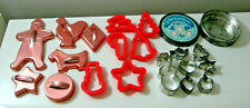 cookie cutter lot metal plastic 19 vintage piece ginger bread man play dough