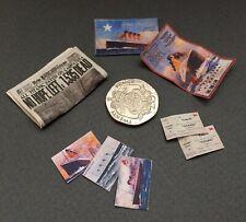 Dolls House 1912 Titanic White Star Line Set Paper Ephemera Miniatures