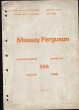 MASSEY-FERGUSON : catalogue de piéces de rechange moissonneuse batteuse 506