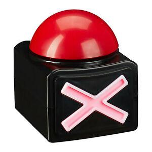 Buzzer mit Sound und Licht Spielbuzzer Partybuzzer Quizbuzzer Quiz Button rot
