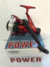 Fladen Power 30 Rear Drag Spinning Fishing Reels Red Fixed Spool & Line Reel