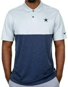 New Nike Dallas Cowboys NFL Football Dri-Fit polo golf shirt men's Medium M NWT