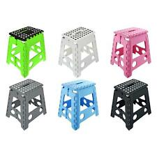 More details for folding foot step stool multi purpose plastic foldable easy storage home kitchen