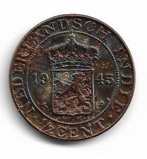 Netherlands East Indie Half Cent 1945 Coin. NH05