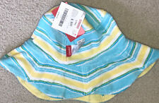 Gymboree Pool Party Terry Striped Yellow Reversible Hat L/Xxl