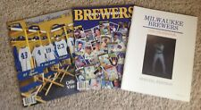 (3) Autographed Milwaukee Brewers Yearbooks 1986 -1987-1988 NIEVES RILES COOPER