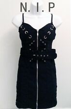 Military Army Pencil Clubwear Party Zip Laced Up Metal Hardcore Bustier Dress