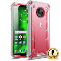 Poetic For Moto G6 Rugged Case [Revolution] Shockproof TPU Cover Pink