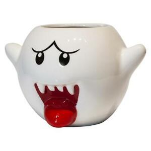 Super Mario Bros White Boo Molded Coffee Mug   20 oz